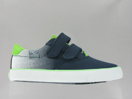 Primigi POY Canvas Velcro Shoes (Navy/Green)